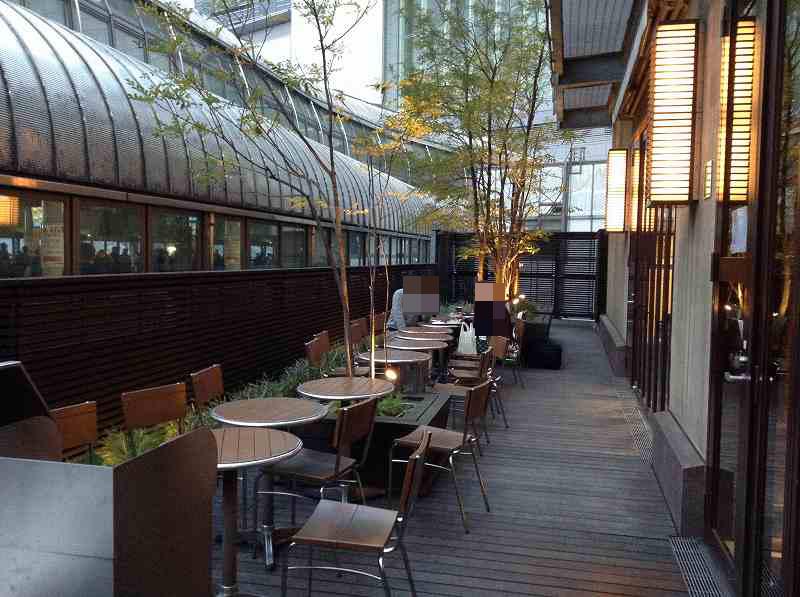 JR品川駅エキュートにある喫煙場所