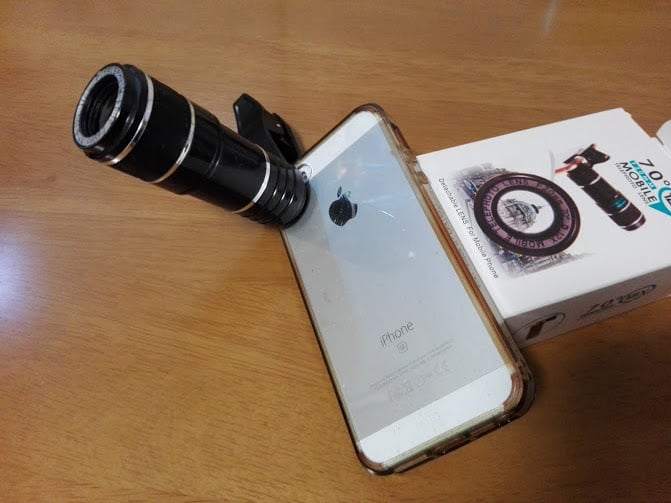 2000円のスマホ用望遠レンズ(12倍)検証